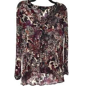 Lucky Brand | Floral Sheer Blouse
